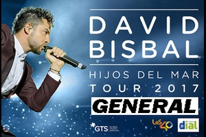 "Entrada General - David Bisbal ""Hijos del Mar"" Tour"